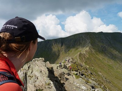 Looking out over Striding Edge