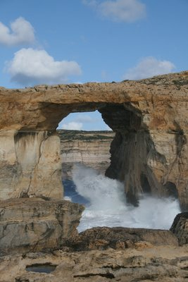 Azure window in rough seas