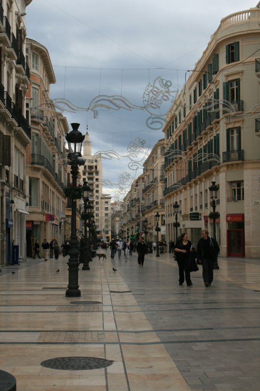 Malaga main shopping area