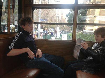 On the City Circle tram