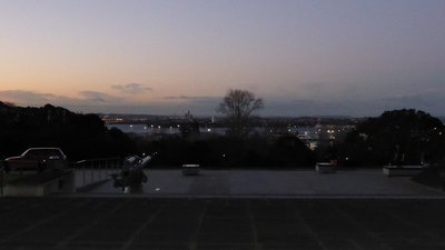 Vista de la ciudad de Auckland desde el Auckland War Memorial Museum