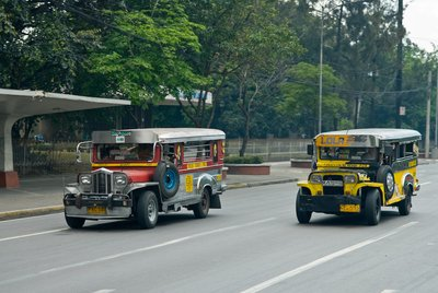 Two jeepney on the street