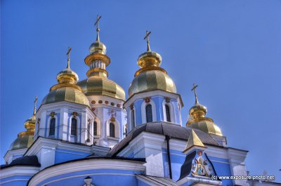 The exterior of the structure was rebuilt in the Ukrainian Baroque style in the 18th century while the interior remained in its original Byzantine style. The cathedral was demolished by the Soviet authorities in the 1930s, but was recently reconstructed a