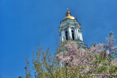The Great Lavra Belltower or the Great Belfry is the main belltower of the ancient cave monastery of Kiev Pechersk Lavra in Kiev. It is one of the most notable buildings of the Kiev skyline.The Great Lavra Belltower is a Classical style construction with