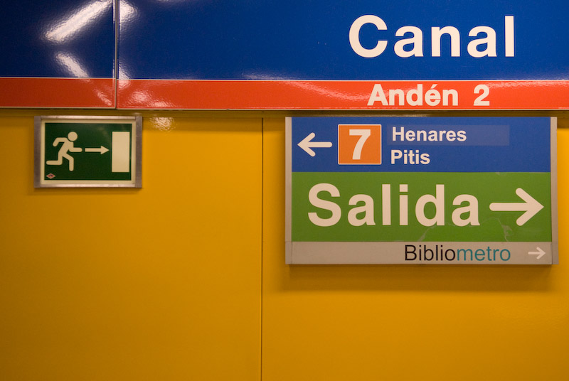 One underground station in Madrid