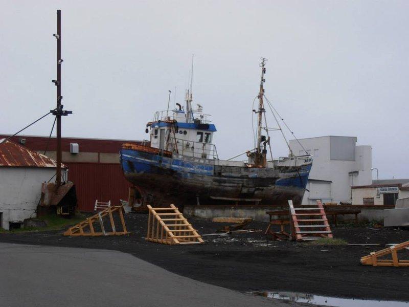 Abandoned ship in Keflavik