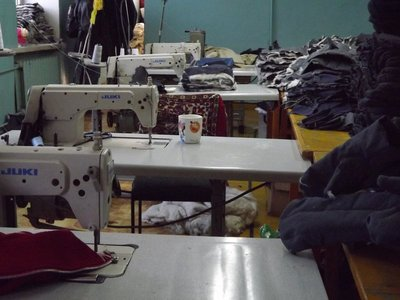 The sewing atelier at the Federation of the Blind