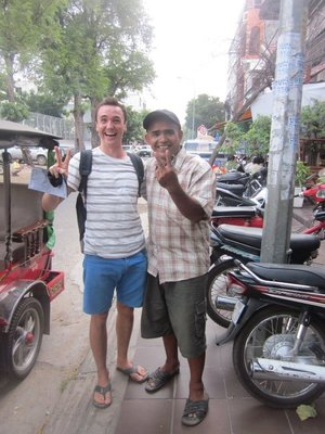 This was our tuk tuk driver to the kiling fields. Thea.