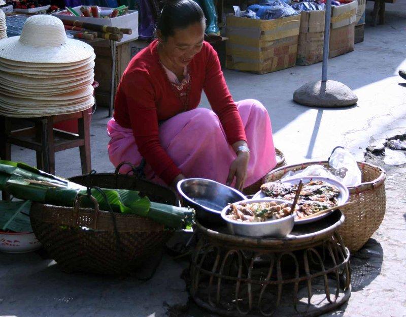 the market in Menghun, Yunnan