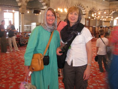 Inside the Blue Mosque with Julia