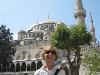 Outside the Blue Mosque