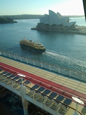 Ship in Sydney - view from deck 14