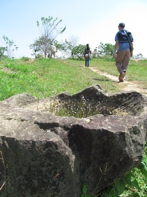 Broken jar at 'Plain of Jars' site 1...60% o jars have been damaged by bombing.