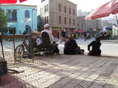 Breakfast options in Kashgar