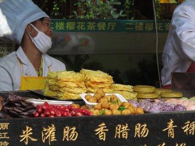 Lijiang food stall