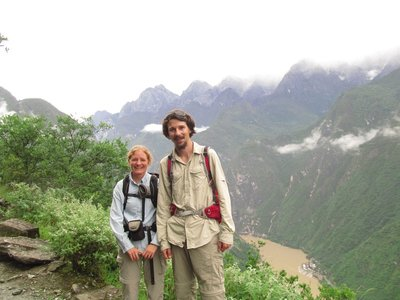 Lachlan and Susanne above Yangtze River