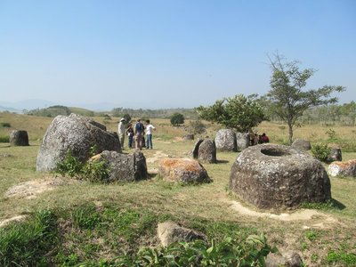 2000 year old jars at the 'Plain of jars' Site 1
