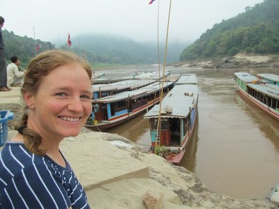 Boarding the slow boatup the Mekong