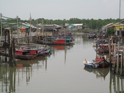 Fishing boats in Pulau Ketam