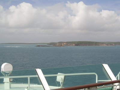 Rounding Cape York - view from deck 11