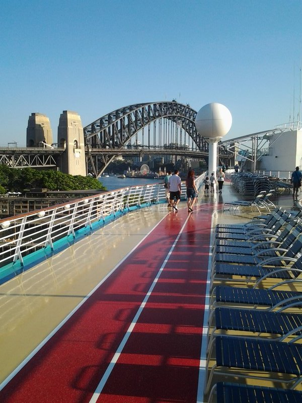 Ship in Sydney - view from Deck 12