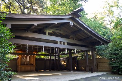 The Car Blessing building at Meji Jingu