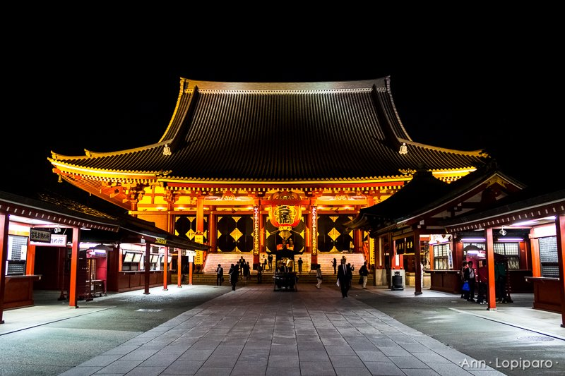 Sensoji Shrine at Night