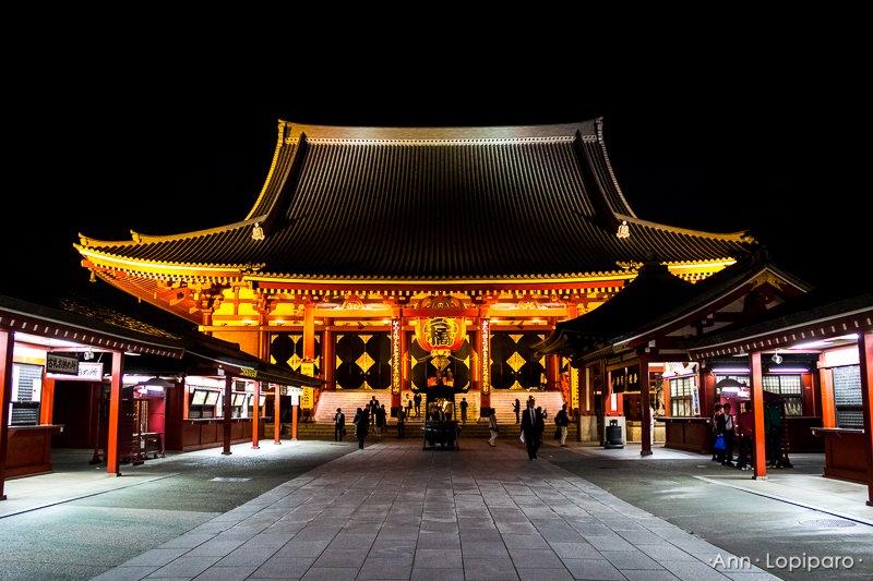 Sensoji Shrine at Night