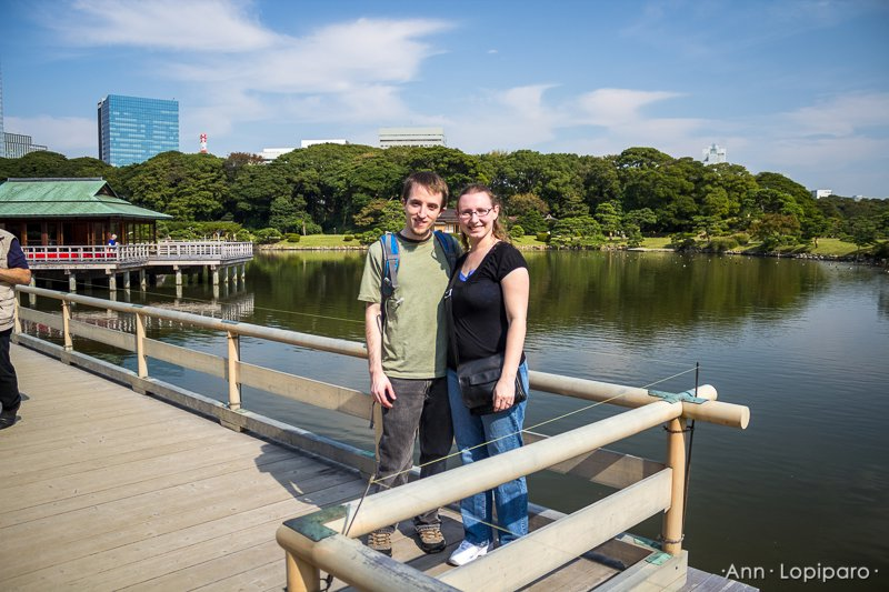 Tore and Ann at Hamarikyu Gardens