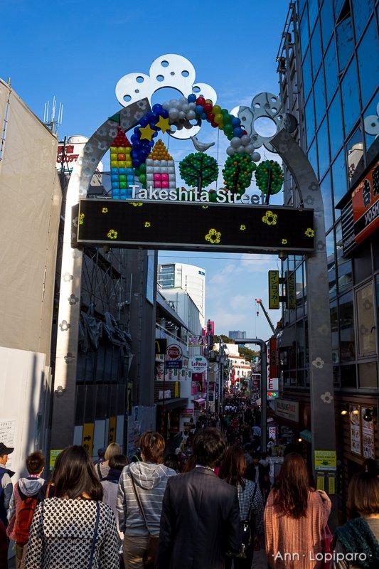 Entrance to Harajuku shopping street.