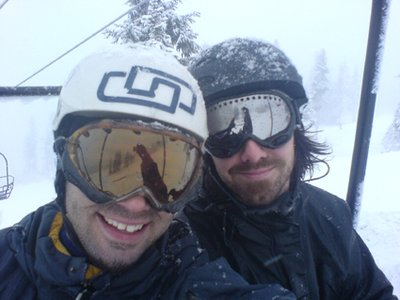 me & neil rippin it up in whistler