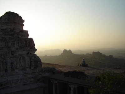 Hampi - Sunrise over the impressive surroundings