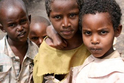 Somali children near Isiolo