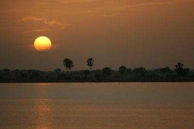 sunset over Niger - Segou 1