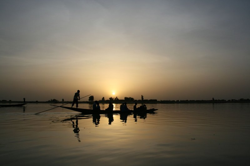 sunset on Bani river in Mopti 2