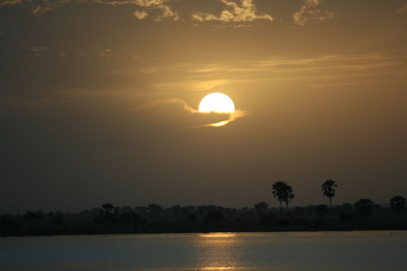 sunset over Niger - Segou 2