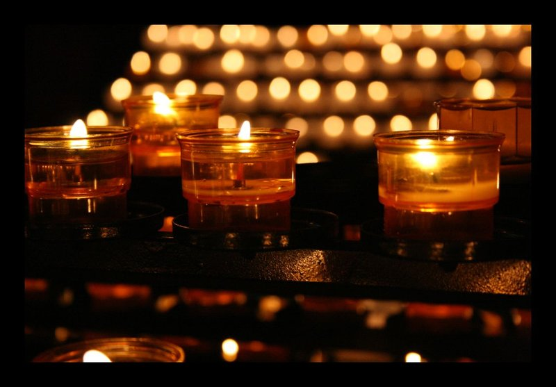 Strasbourg - candles in the cathedral