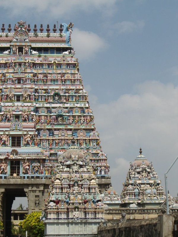 One of the gopurams - The temple in Chidambaram
