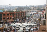 Crazy traffic in Kampala