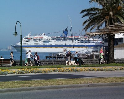 Cruise ship at Port Melbourne