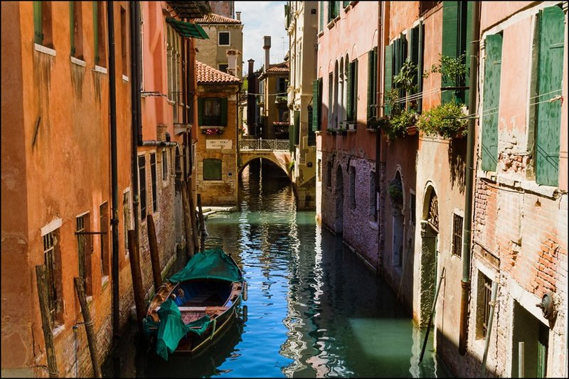 Venice, the city of canals.