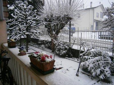 Monselice under snow.