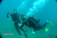 Us diving in Nha Trang, Vietnam