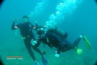 Us diving in Nha Trang, Vietnam