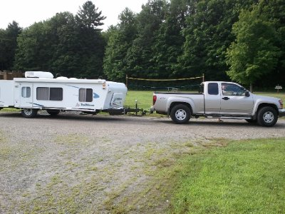 2013-07-12 Friday morning pulling out of the campsite in Shelburne, VT