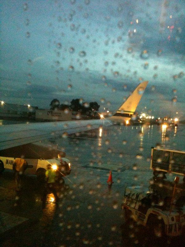 Airport rain