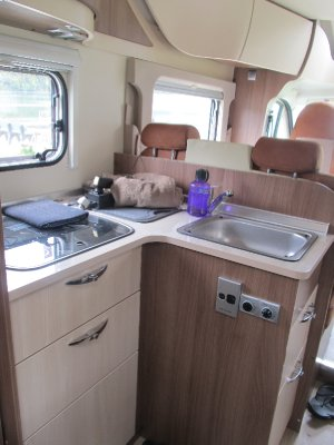 Inside the campervan
