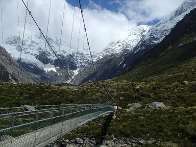 Hanging Bridge in Hooker Valley