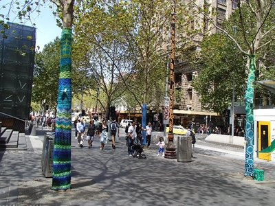 Melbourne yarn bombing