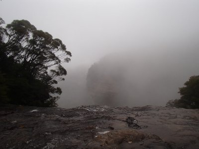 Top of Wentworth Falls -Rainy Day